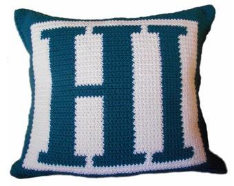 HI Crochet Pillow