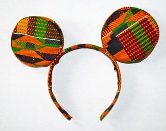Kente Mickey Mouse Ears Headband
