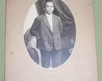 Vintage Photo - Baltimore MD - Young Man - Ellerbrack Photographer