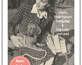 Macrame Shopping Bag, Dog Lead and Collar Instructions  - PDF Pattern - PDF Instant Download