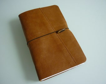 Handmade Leather Notebook Sketch Book Notebook Journal Diary Upcycle Pocket Size