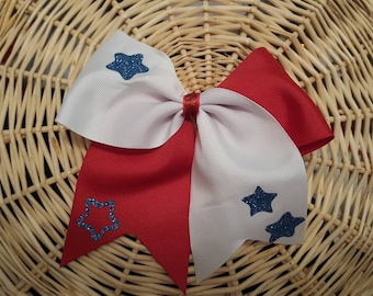 Red,White and Blue Cheer Bow!