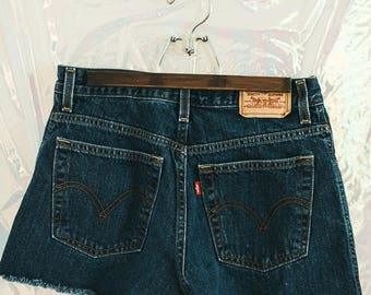 Vintage Levi's High Waisted Denim Shorts