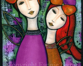My Mother, My Daughter, Fabric Panel