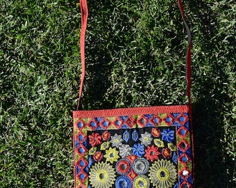 Handmade Sindhi Colorful Purse With Mirrors & Tassels
