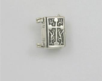 Sterling Silver 3-D Movable Bible Charm