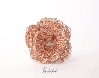 Rose Ring, Copper Ring, Flower Ring, Romantic Ring, Adjustable Ring
