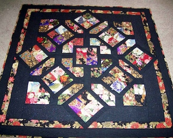 ASIAN SCRAMBLE  -  quilted wall hanging