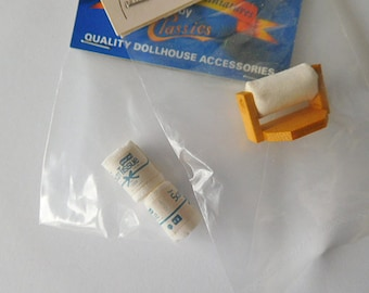 Toilet Paper Essentials for Dollhouse Bathroom, 12th Scale