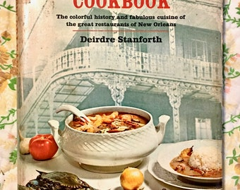New Orleans Restaurant Cookbook. 1967.  Mid Century Photos, Illustrations, Recipes, History. Soft Shell Turtle Stew.