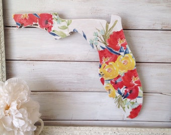 Florida Home Sign. Gifts for the home. office art. home gallery. floral art. boho wall art. rustic home decor. gifts for her. new home gift.