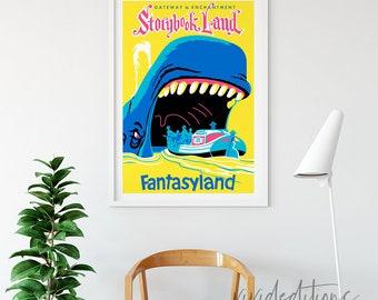 Disneyland Poster, Vintage Gateway to Enchantment Storybook Land Attraction Poster, Nursery Art Print, Kids Decor, Wall Art, B2G1 Free