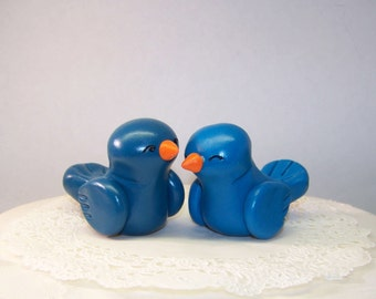 Wedding Cake Topper -- Birds - Fully Customizable - Cupcake Topper - Pie Topper - READY TO SHIP -- Colors of Choice