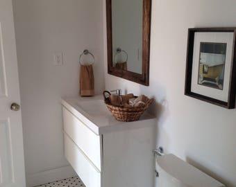Wood Mirror, Rustic Wall Mirror, Large Wall Mirror, Vanity Mirror, Bathroom Mirror, Rustic Mirror, Reclaimed Wood Mirror, Framed Mirror