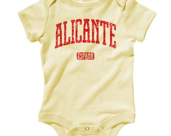Baby Alicante Spain Romper - Infant One Piece - NB 6m 12m 18m 24m - Alicante Baby, Spain Baby, Espana - 4 Colors