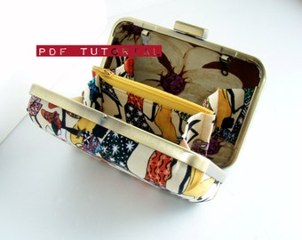 Sewing Tutorial, Hard Case Clutch with Inside Divisions, Minaudiere PDF Tutorial