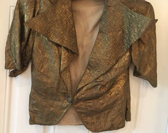 20's Jacket...Gold Metalic