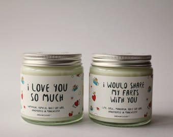 I Would Share My Farts With You Soy Candle| Gift for Fiance, Gift for Boyfriend, Gift for him, Funny Gift, Personalised Gift