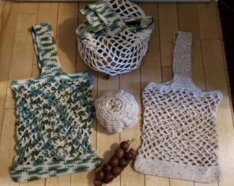 Produce Market Bags - Crocheted