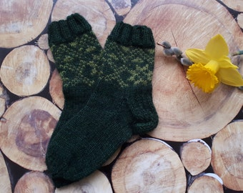 Handmade wool knitted socks with Latvian soul.