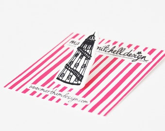 Helter Skelter Pin Brooch - Helter Skelter Brooch - Brighton Badge - Brighton Jewellery - Gifts For Her