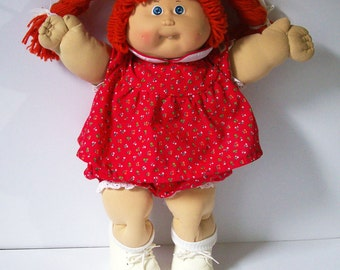 "Vintage 80s Coleco Cabbage Patch Kids Baby Doll - 1985 - 16"" tall"