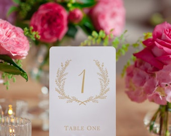 Wedding table number | Etsy