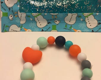 Silicone beaded bracelets and necklaces
