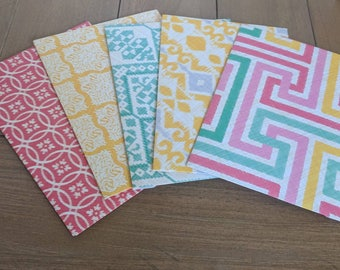 A7 patterned envelopes