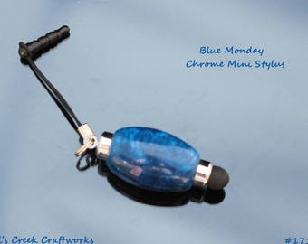 Blue Monday Chrome Mini Stylus