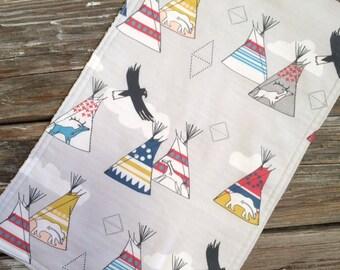 Burp Cloth ~ Geometric//Nature//Teepee//Village//Deer//Eagle//Native//Tribal