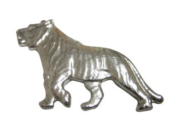 Silver Toned Tiger Magnet