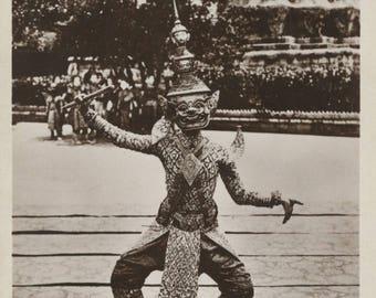 Antique Postcard - Cambodia ...  Royal Dancer