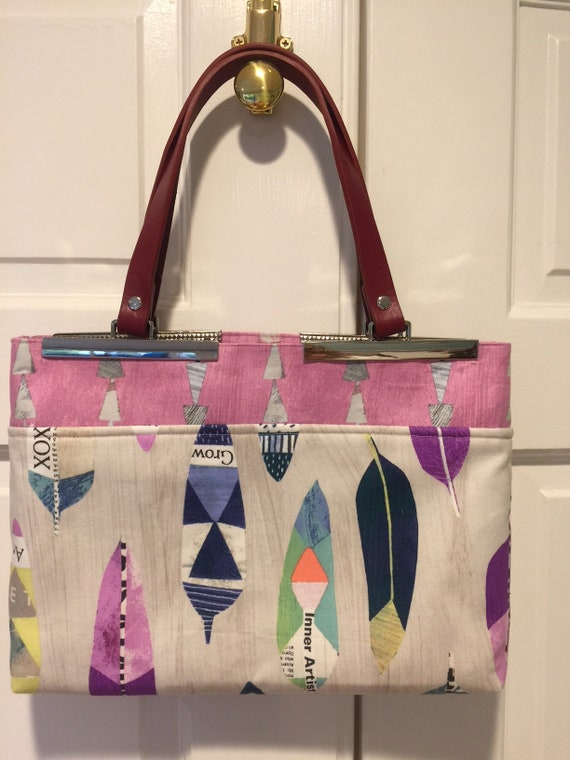 Lizzy Bennet Handbag-Feathers on Birch
