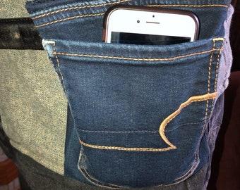 Upcycled denin belt pouch sporran