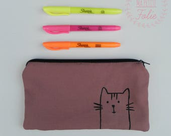 Cha cha cat pouch! Handmade in Quebec