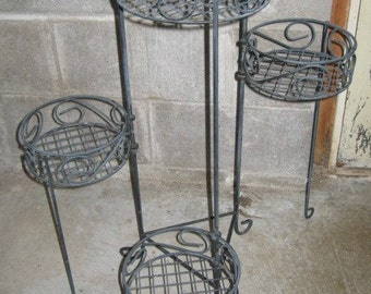 Wire Plant Stand Etsy
