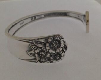 Petite Spoon Bracelet. Cuff Bracelet. APRIL Spoon Jewelry. Silverware Jewelry. Silver Bracelet.