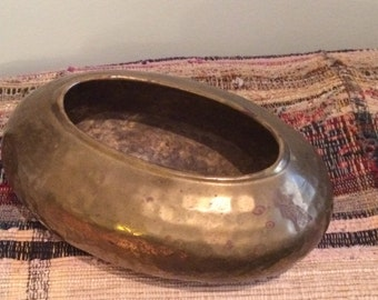 vintage brass container