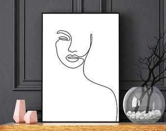 Single Line Art Print : One line drawing etsy