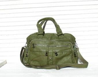 Vegan Leather Diaper Bag, Baby Bag, Messenger Diaper Bag, Satchel Bag Women, Crossbody Bag, Multi Pockets Bag, Satchel Handbag, Faux Leather