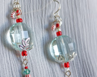 Peppermint Ice Earrings