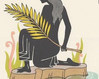 virgo astrology silkscreen horoscope art