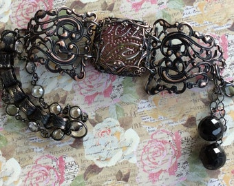 Victorian Style Bracelet, Bracelet, Evening Jewelry, Date Night