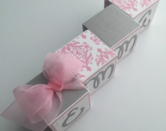 Baby Name Blocks Babies Girl Boy Gift Newborn Baby Shower Nursery Blocks Photo Prop Letters Wall Decor Personalized