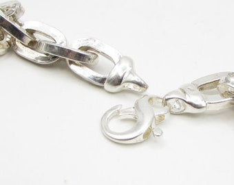 """925 sterling silver - traditional chain link 24"""" necklace - n1031"""