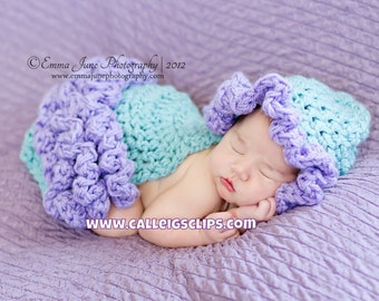 Instant Download Crochet Pattern - no. 23 -Frilly Ruffles -Cuddle Cape Set -  Newborn Photography Prop