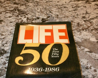 Life Magazine ~ The First Fifty Years//936 to 1986//Color and Black and White Photos//Vintage Book