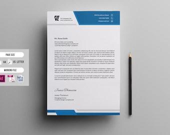 Letterhead etsy letterhead template corporate letterhead multipurpose letterhead printable indesign ms word template instant download v03 spiritdancerdesigns Choice Image