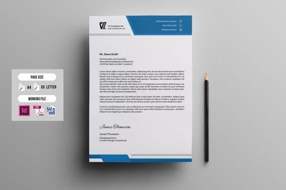 Letterhead Template Corporate Letterhead Multipurpose